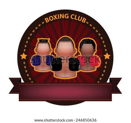 Boxing club banner - stock vector