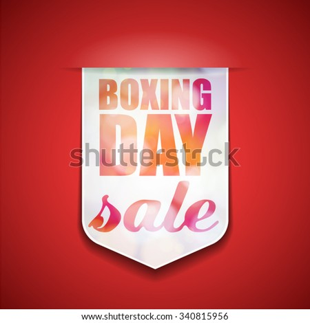Boxing Day Sale - stock vector
