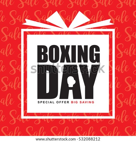 boxing day sale template design happy ベクター画像素材 532088212