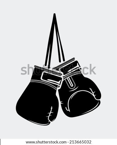 boxing design over white  background vector illustration - stock vector