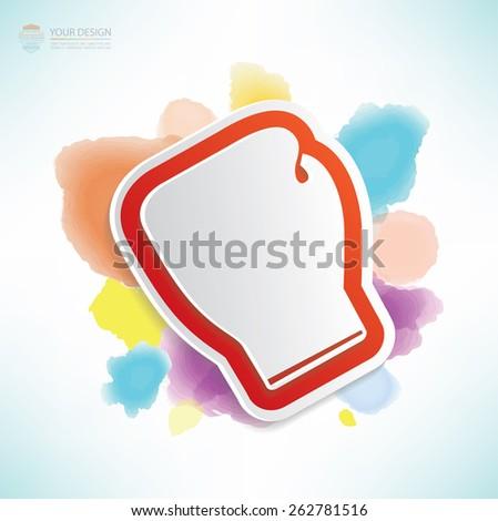 Boxing design,water colour design,clean vector - stock vector