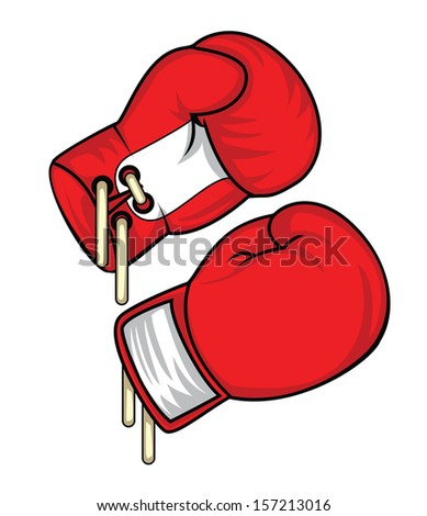 boxing glove - stock vector
