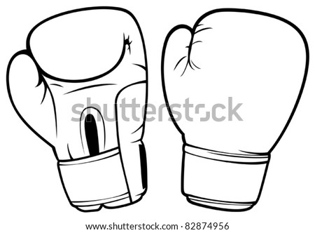 boxing gloves stock vector 82874956 shutterstock rh shutterstock com boxing gloves vector art free boxing glove vector art free