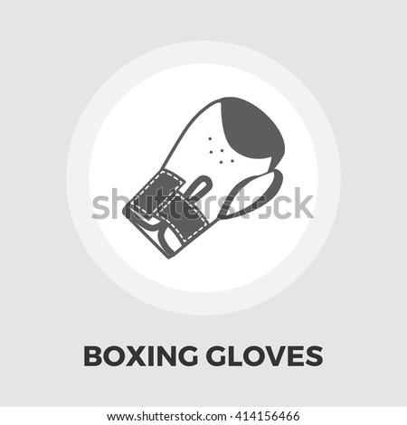 Boxing gloves icon vector. Flat icon isolated on the white background. Editable EPS file. Vector illustration. - stock vector