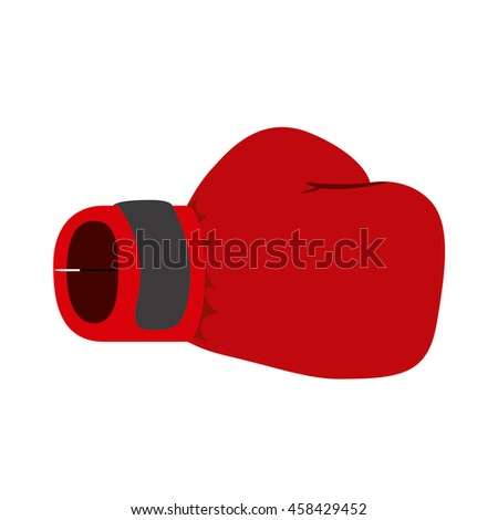 boxing gloves isolated icon design, vector illustration  graphic