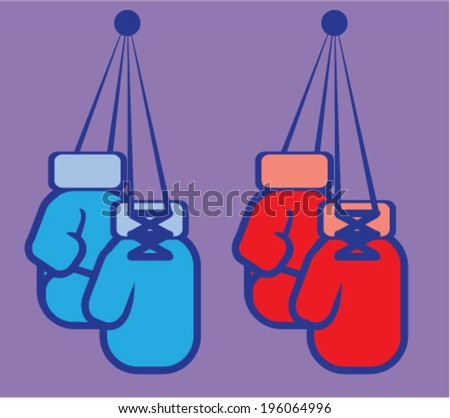Boxing Gloves vector - stock vector