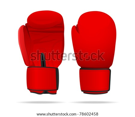 Boxing gloves. Vector illustration. - stock vector