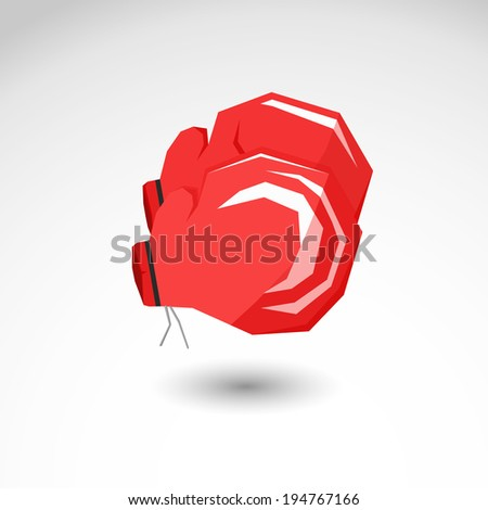 Boxing gloves vector illustration isolated background - stock vector