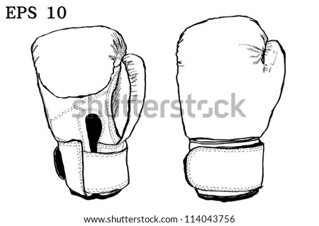 Boxing gloves with Vector EPS 10 - stock vector