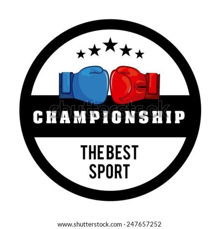 boxing sport design, vector illustration eps10 graphic - stock vector