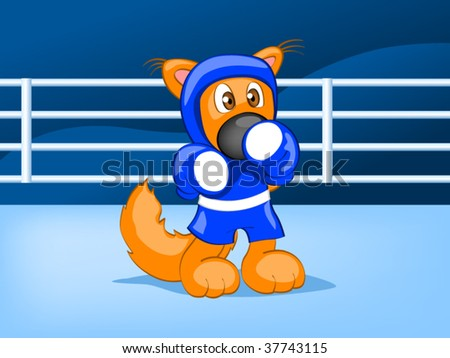 boxing squirrel - stock vector