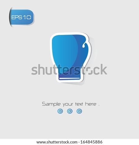 Boxing symbol,Blue version,vector - stock vector