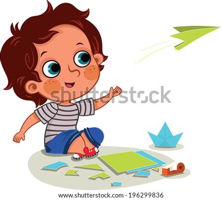 Boy Activity - stock vector