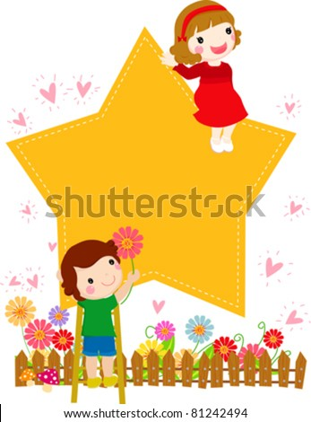 boy and girl - stock vector