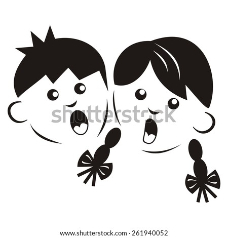 Kids Boy Girl Vector Icon 236024377 on princess hair clip art