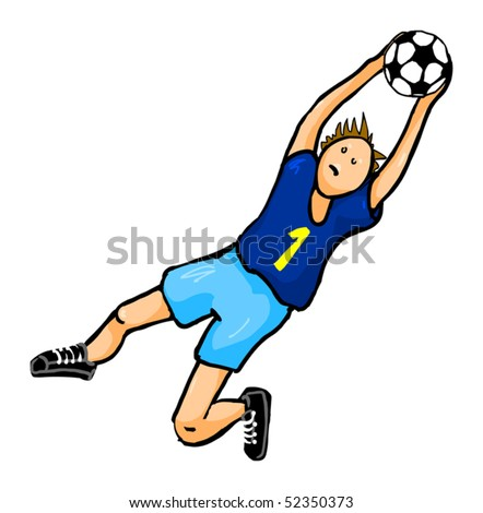 boy catching a football ball, vector