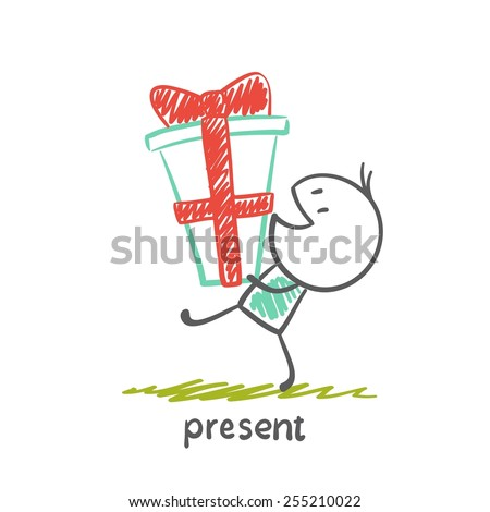 boy is a great gift illustration - stock vector