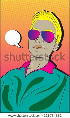 Boy sketch in comic style  - stock vector