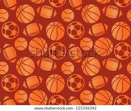 boy sports seamless background - stock vector