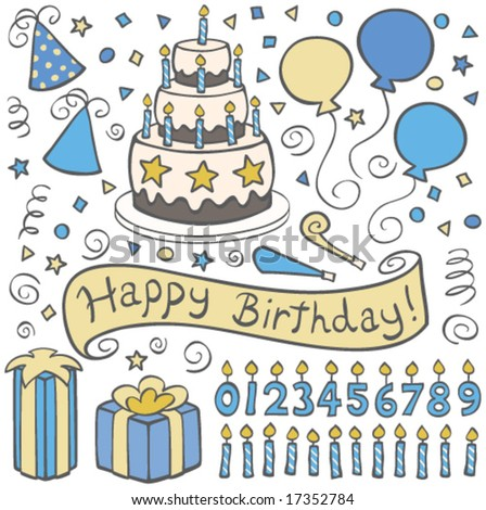 Boys Birthday Party - stock vector