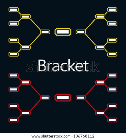 Bracket Tournament - stock vector