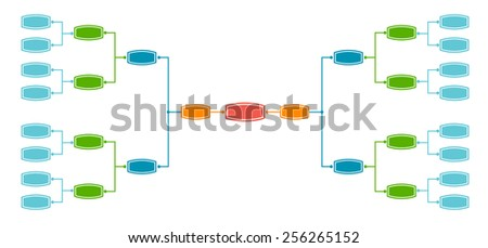 Bracket tournament 16 teams - stock vector