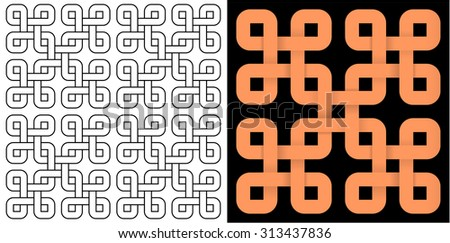 Braided patterns - stock vector