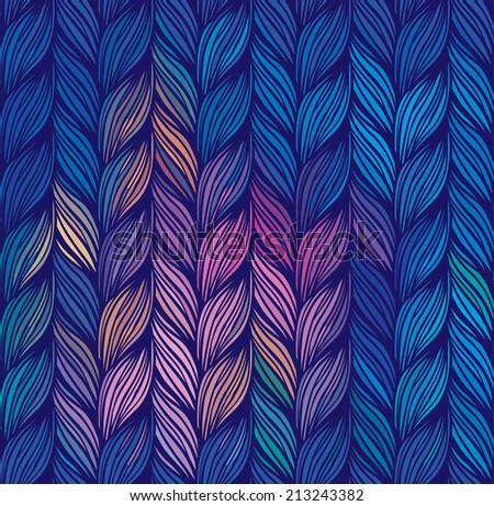 Braids:  Multicolor abstract seamless pattern. Texture of wavy vertical stripes. Stylish abstract background.  - stock vector