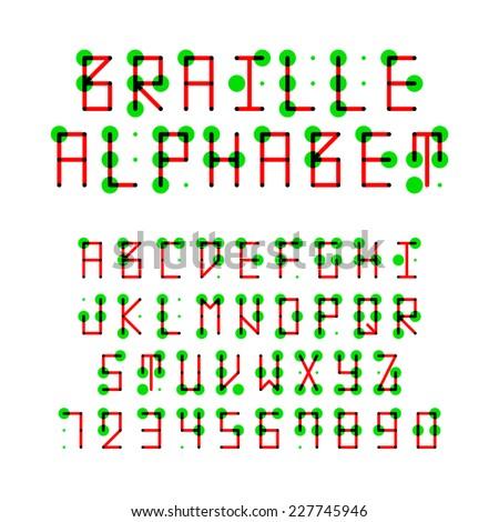 Braille alphabet. Vector. - stock vector