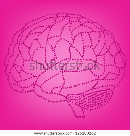 brain background. eps10 - stock vector
