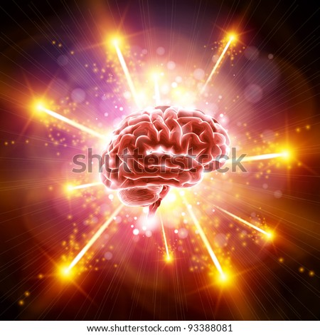 Brain Bang - stock vector
