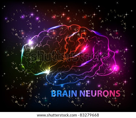 brain bokeh abstract light background - stock vector