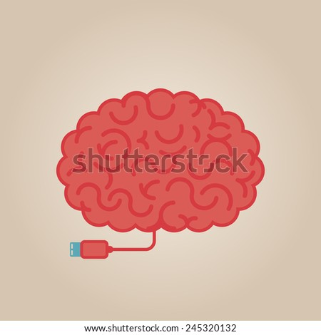 Brain concept illustration - stock vector