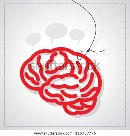 brain creative thinking - stock vector