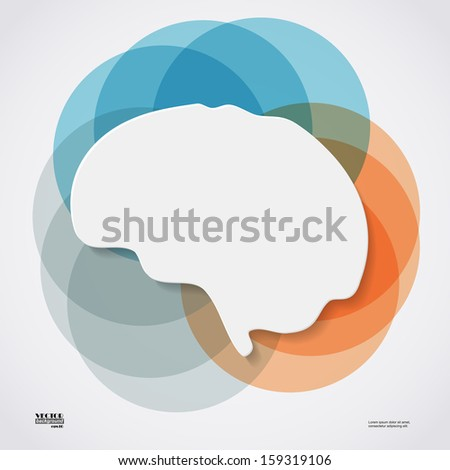 Brain, eps10 - stock vector