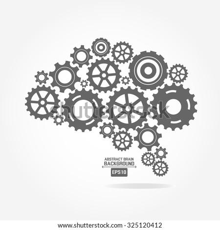 Brain gear - stock vector