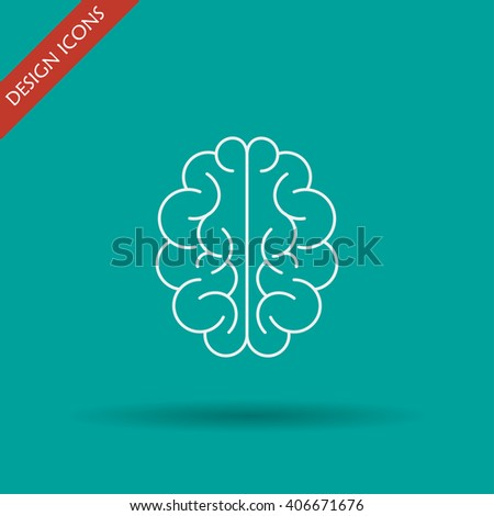 Brain icon. Flat style illustration. EPS 10 - stock vector