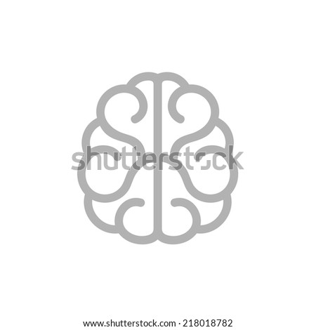 Brain Icon. Vector Illustration on White Background - stock vector