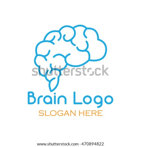 brain ideas creative mind vector logo stock vector 470894822