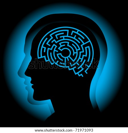 Brain maze.. - stock vector