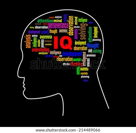 Brain profile image. Vector eps 10 - stock vector