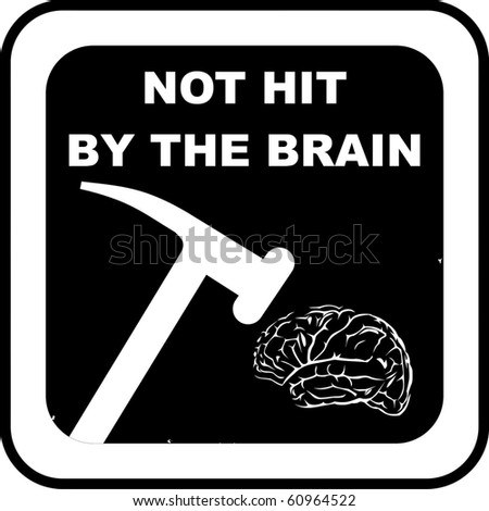 Brain rubber stamp - stock vector