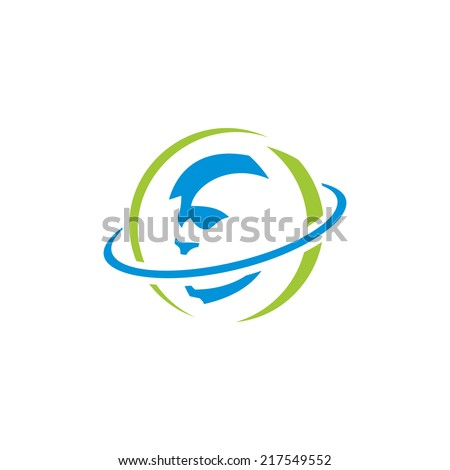 Brain scans of abstract sign Branding Identity Corporate vector logo design template Isolated on a white background - stock vector