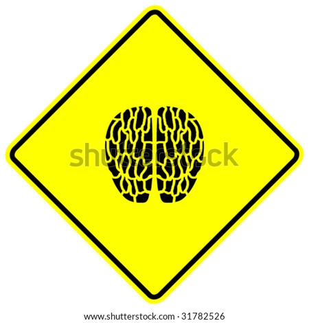 brain sign - stock vector