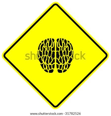 brain sign - stock vector