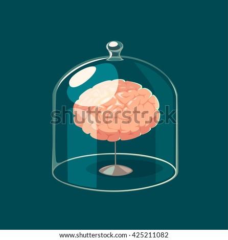 Brain standard. Concept vector illustration. - stock vector