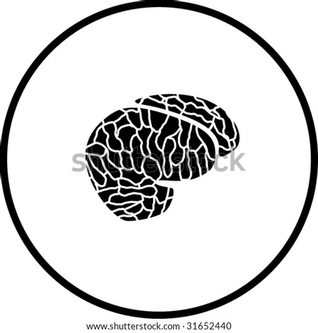 brain symbol - stock vector