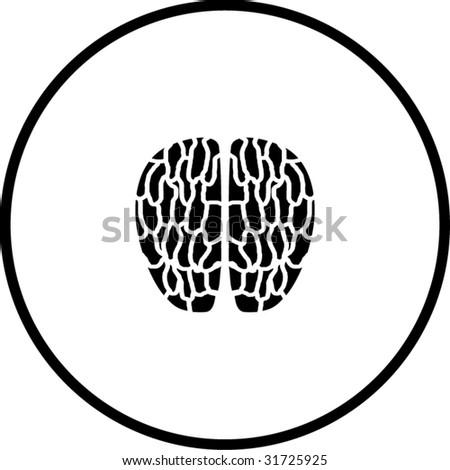 brain symbol - stock vector