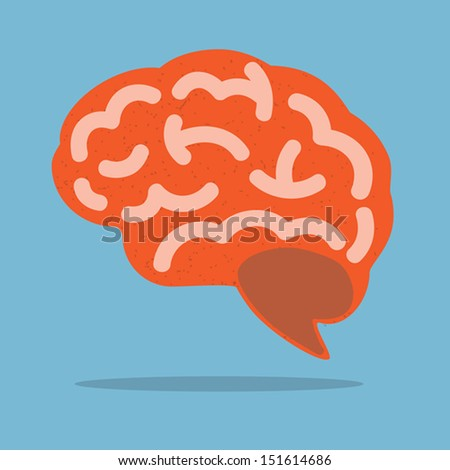 Brain,Vector - stock vector
