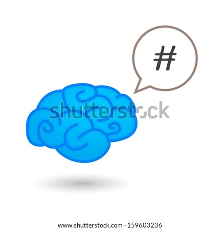 Brain with icon - stock vector